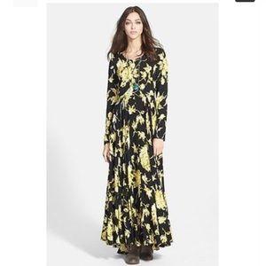 Free People long sleeve maxi dress
